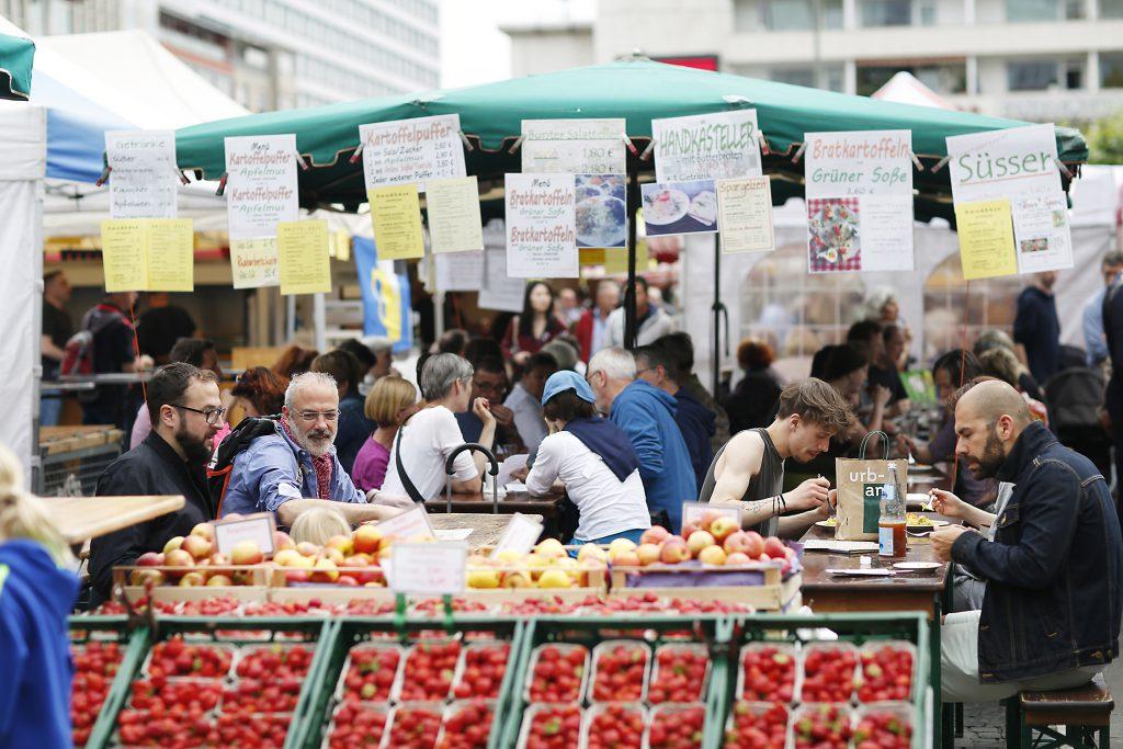 Frankfurter Bauernmarkt an der Konstablerwache